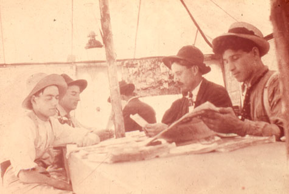 "A ""reading tent"" on the frontier (Photo courtesy of Frontier College)."