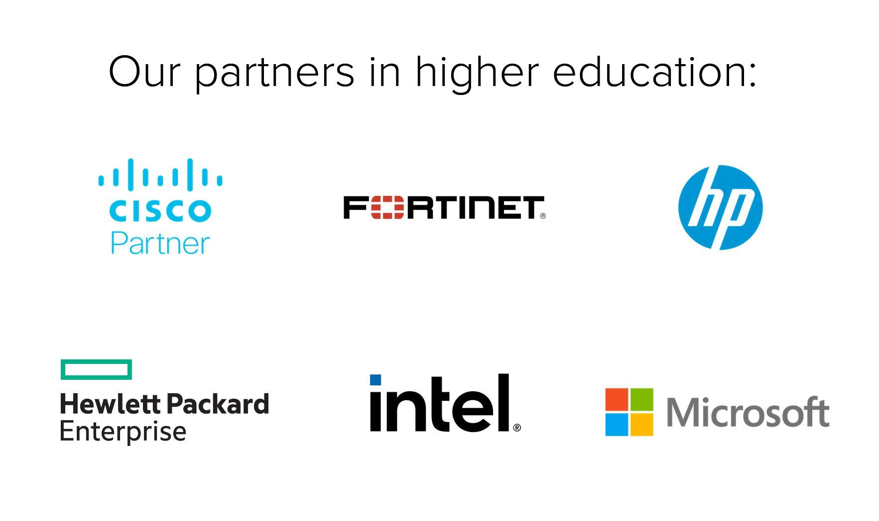 Higher Education Partner Logos