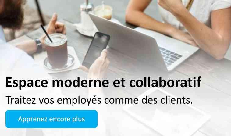 Modern workspace banner french